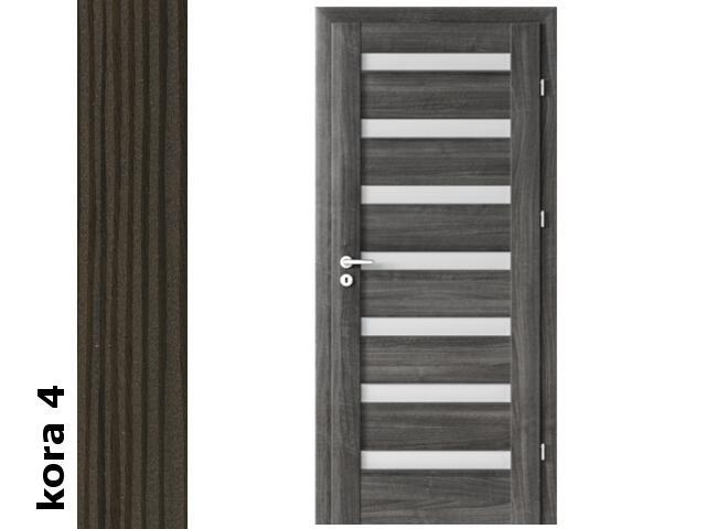 Drzwi okleinowane Cortex kora 4 D7 80 prawe blokada wc zawiasy srebrne Verte