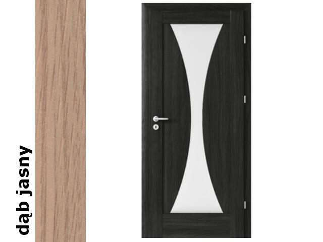 Drzwi okleinowane Decor dąb jasny E2 80 prawe zawiasy srebrne Verte
