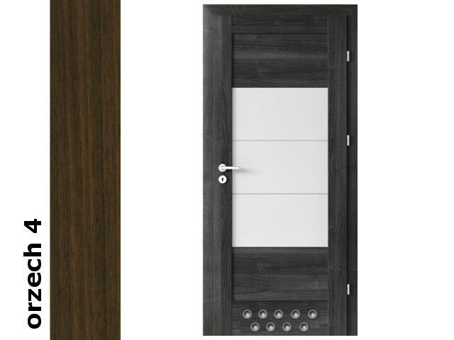 Drzwi okleinowane Dur orzech 4 B7 80 prawe blokada wc 2 x tuleje zawiasy srebrne Verte