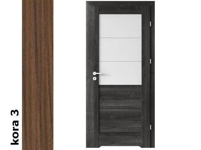Drzwi okleinowane Cortex kora 3 B3 70 prawe blokada wc podc.went. zawiasy złote Verte