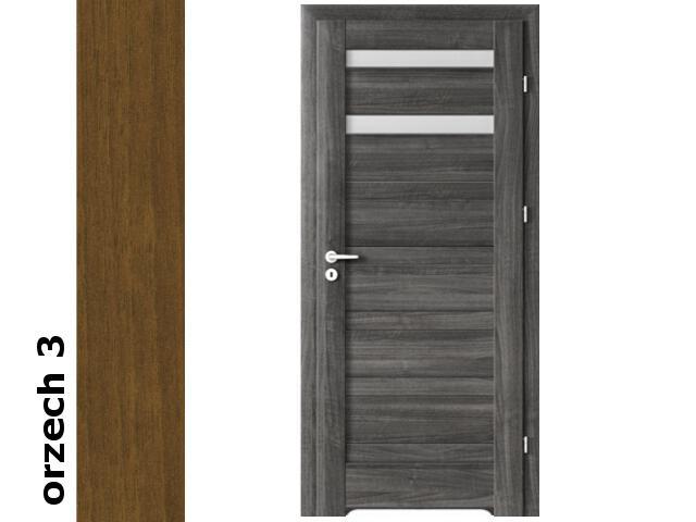 Drzwi okleinowane Dur orzech 3 D2 80 lewe blokada wc podc.went. zawiasy złote Verte