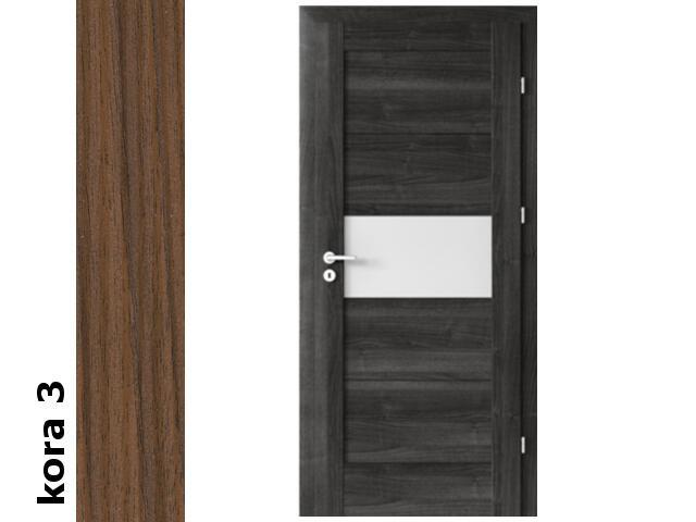 Drzwi okleinowane Cortex kora 3 B6 80 prawe zamek patent zawiasy srebrne Verte