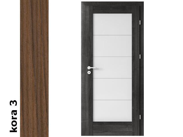 Drzwi okleinowane Cortex kora 3 B5 80 lewe zamek patent zawiasy srebrne Verte