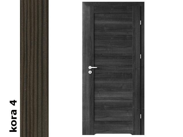 Drzwi okleinowane Cortex kora 4 B0 80 prawe zamek oszcz. podc.went. zaw. srebrne Verte