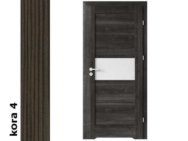 Drzwi okleinowane Cortex kora 4 B6 80 lewe blokada wc podc.went. zawiasy srebrne Verte