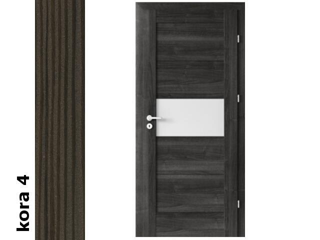 Drzwi okleinowane Cortex kora 4 B6 80 lewe zamek oszcz. zawiasy srebrne Verte