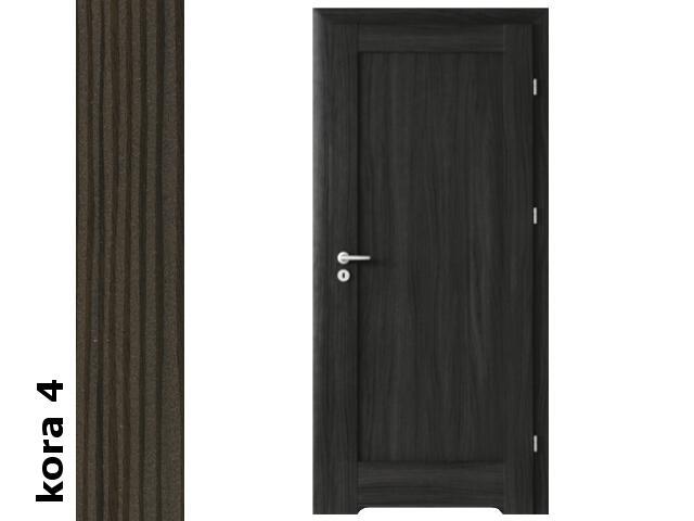 Drzwi okleinowane Cortex kora 4 E0 80 prawe zamek patent podc.went. zaw. srebrne Verte