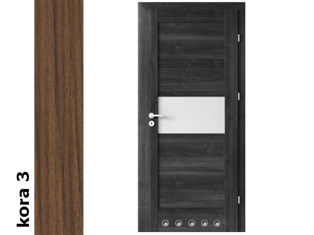 Drzwi okleinowane Cortex kora 3 B6 70 lewe blokada wc tuleje zawiasy srebrne Verte