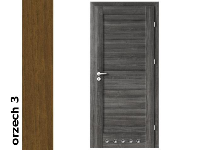 Drzwi okleinowane Dur orzech 3 D0 80 prawe tuleje zawiasy srebrne Verte