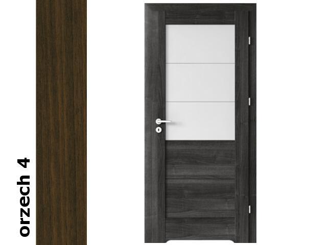 Drzwi okleinowane Dur orzech 4 B3 80 lewe bl. wc podcięcie went. zaw. srebrne Verte