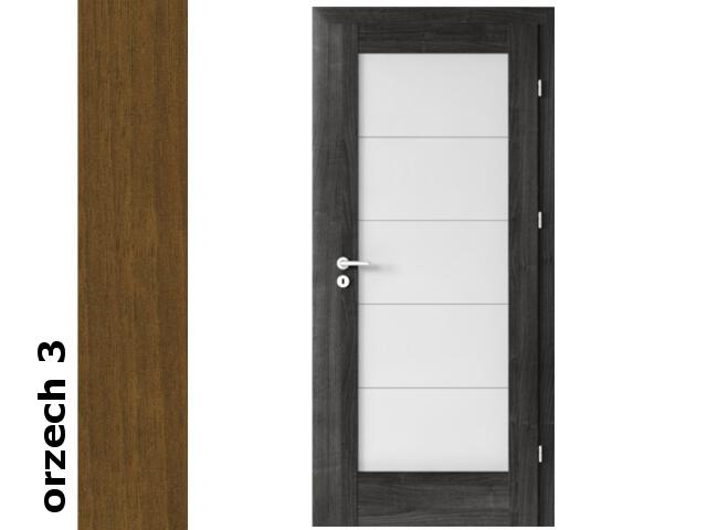 Drzwi okleinowane Dur orzech 3 B5 80 prawe zamek patent zawiasy złote Verte