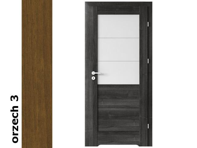 Drzwi okleinowane Dur orzech 3 B3 70 prawe blokada wc podc.went. zawiasy złote Verte