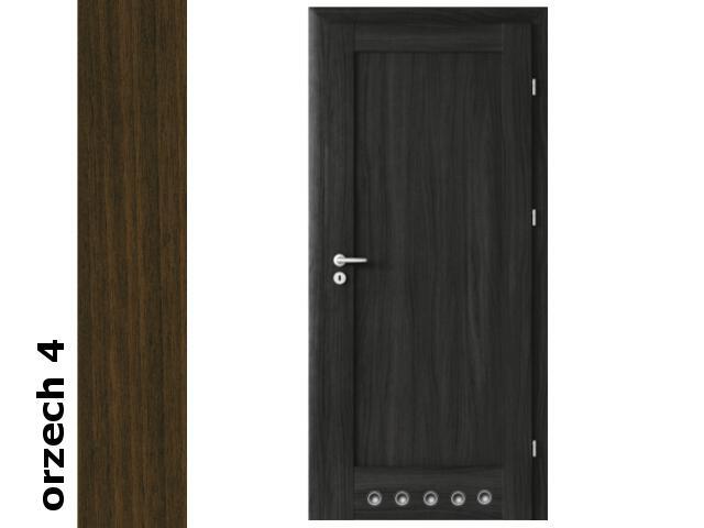 Drzwi okleinowane Dur orzech 4 E0 80 prawe blokada wc tuleje zawiasy srebrne Verte