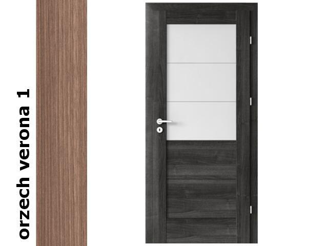 Drzwi okleinowane Decor orzech 1 B3 90 lewe zamek patent zawiasy srebrne Verte