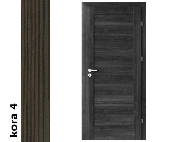 Drzwi okleinowane Cortex kora 4 B0 90 lewe zawiasy srebrne Verte
