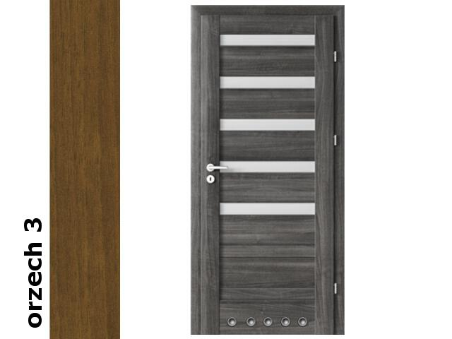 Drzwi okleinowane Dur orzech 3 D5 80 lewe blokada wc tuleje zawiasy srebrne Verte