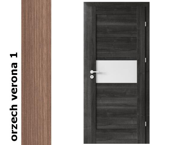 Drzwi okleinowane Decor orzech 1 B6 70 lewe blokada wc zawiasy srebrne Verte