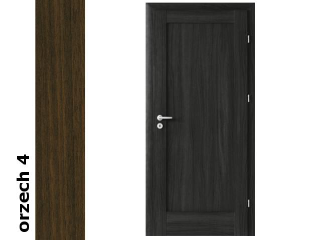 Drzwi okleinowane Dur orzech 4 E0 70 lewe zawiasy srebrne Verte