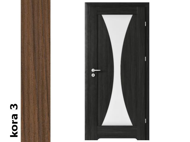 Drzwi okleinowane Cortex kora 3 E2 80 prawe podc.went. zaw. złote Verte