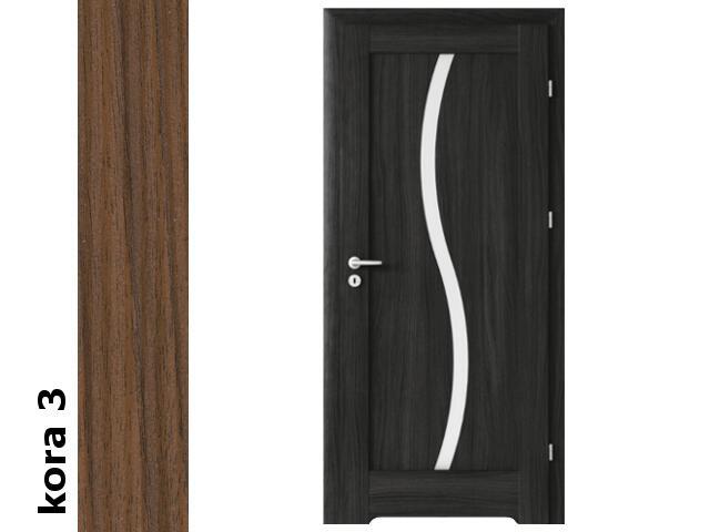 Drzwi okleinowane Cortex kora 3 E1 80 prawe podc.went. zaw. złote Verte