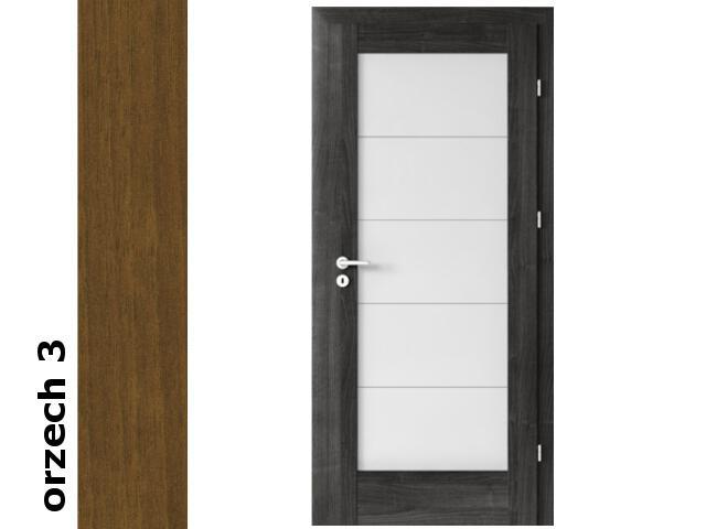 Drzwi okleinowane Dur orzech 3 B5 80 prawe zamek patent zawiasy srebrne Verte