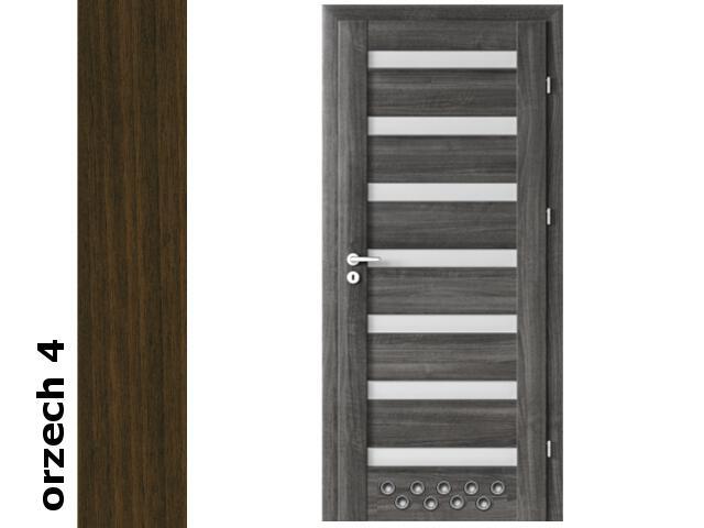 Drzwi okleinowane Dur orzech 4 D7 70 lewe 2 x tuleje zawiasy srebrne Verte