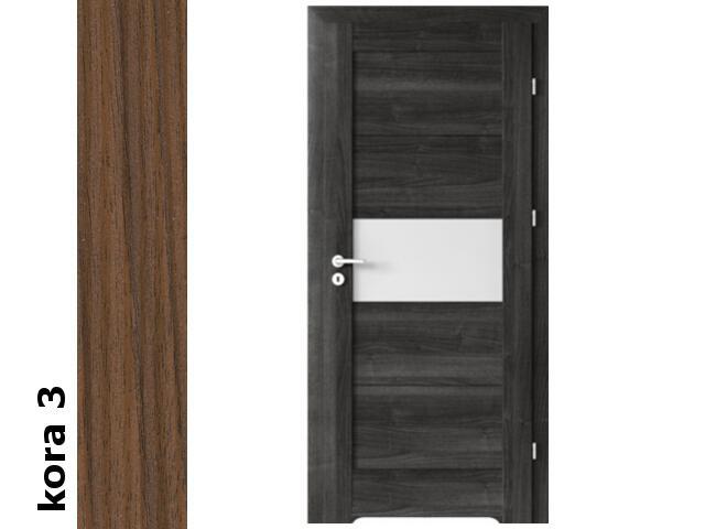Drzwi okleinowane Cortex kora 3 B6 80 lewe blokada wc podc.went. zawiasy srebrne Verte