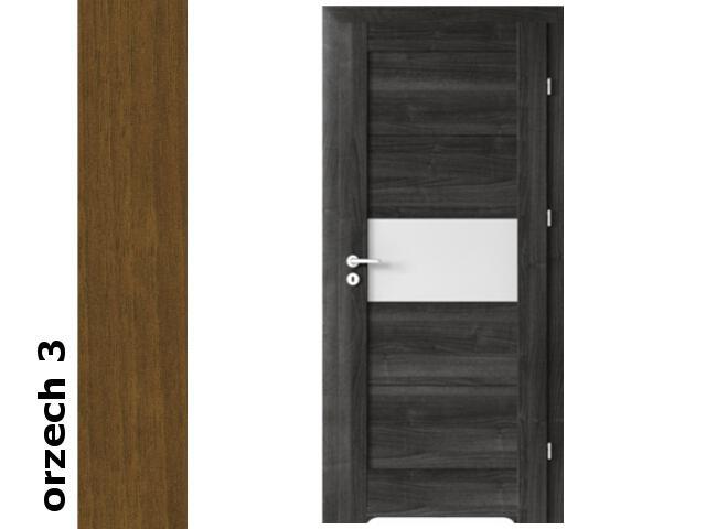 Drzwi okleinowane Dur orzech 3 B6 80 prawe podcięcie went. zawiasy srebrne Verte