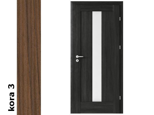 Drzwi okleinowane Cortex kora 3 E4 80 lewe zawiasy srebrne Verte