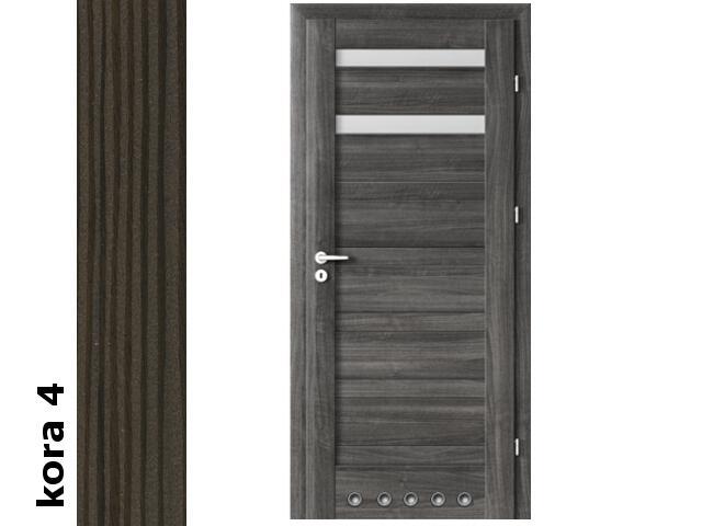 Drzwi okleinowane Cortex kora 4 D2 70 lewe tuleje zawiasy srebrne Verte