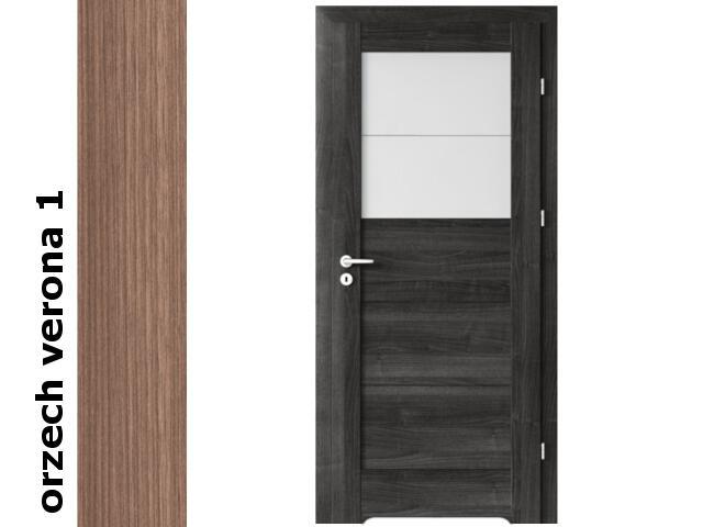Drzwi okleinowane Decor orzech 1 B2 70 prawe blokada wc podc. went. zaw. złote Verte