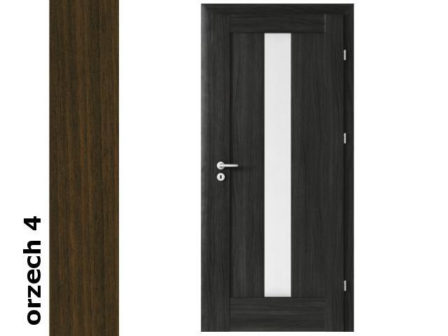 Drzwi okleinowane Dur orzech 4 E4 80 prawe blokada wc zawiasy srebrne Verte