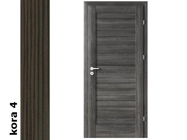 Drzwi okleinowane Cortex kora 4 D0 80 prawe zamek patent zawiasy srebrne Verte