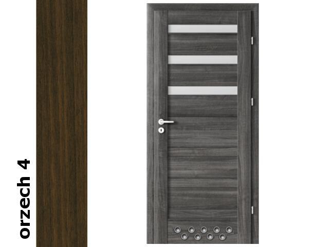 Drzwi okleinowane Dur orzech 4 D3 70 lewe blokada wc 2 x tuleje zawiasy srebrne Verte