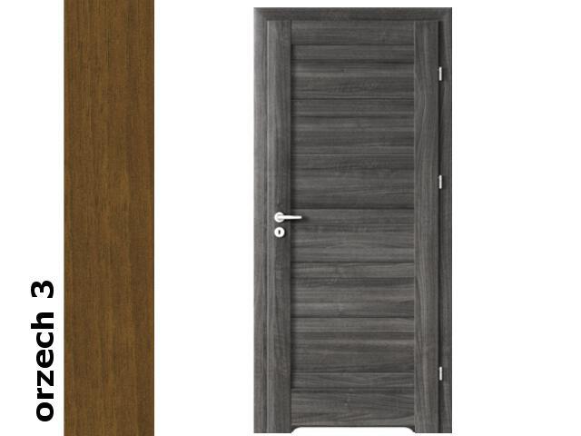 Drzwi okleinowane Dur orzech 3 D0 80 prawe blokada wc podc. went. zawiasy srebrne Verte