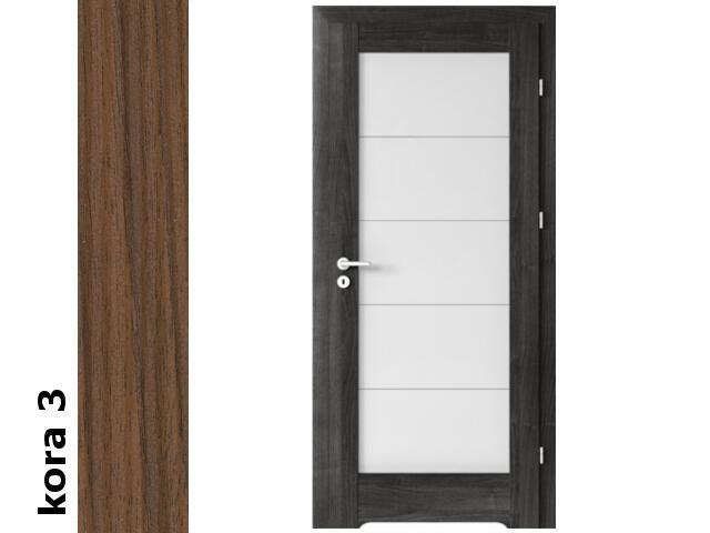 Drzwi okleinowane Cortex kora 3 B5 70 lewe blokada wc podc.went. zawiasy srebrne Verte