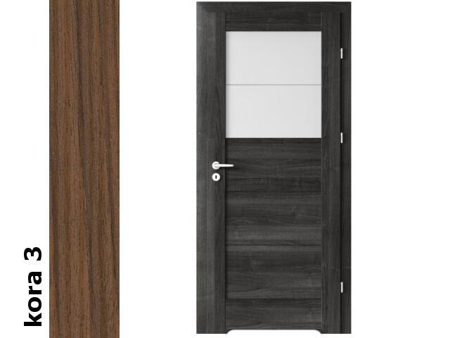 Drzwi okleinowane Cortex kora 3 B2 80 prawe blokada wc podc.went. zawiasy srebrne Verte