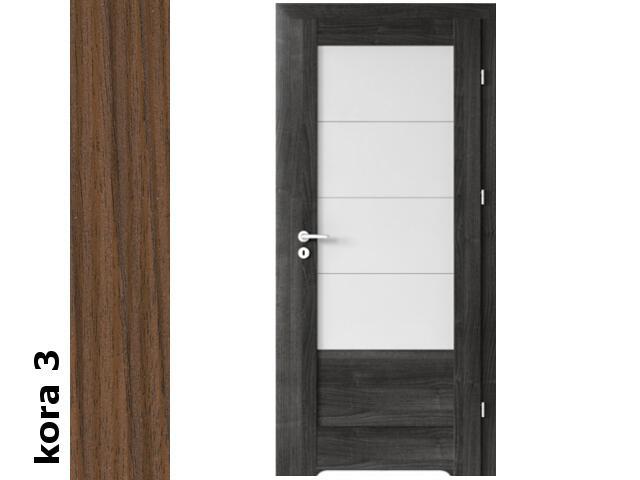 Drzwi okleinowane Cortex kora 3 B4 80 lewe zamek oszcz. podc.went. zawiasy srebrne Verte