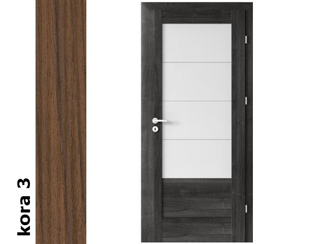 Drzwi okleinowane Cortex kora 3 B4 80 lewe zamek oszcz. zawiasy srebrne Verte