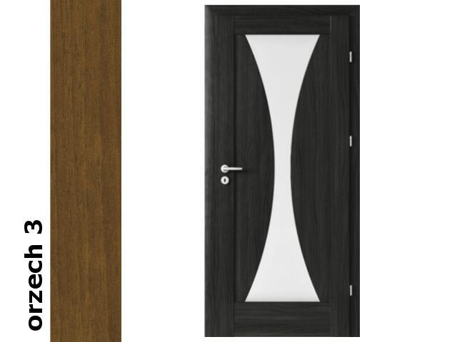 Drzwi okleinowane Dur orzech 3 E2 90 lewe zawiasy srebrne Verte