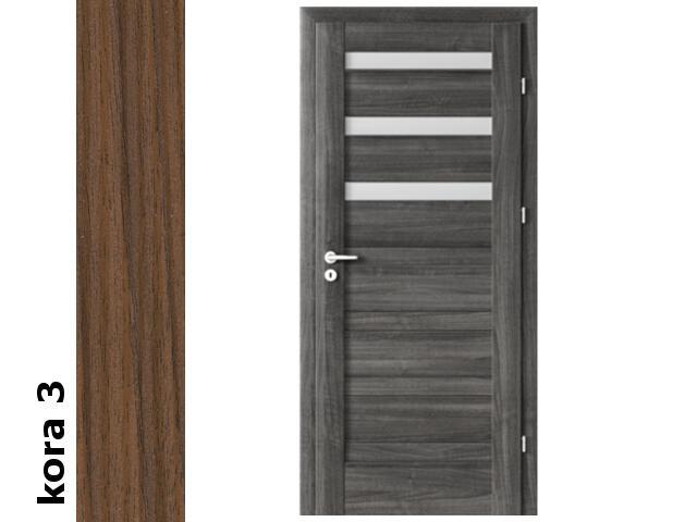 Drzwi okleinowane Cortex kora 3 D3 80 prawe zawiasy srebrne Verte