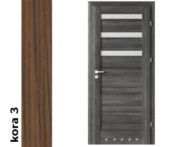 Drzwi okleinowane Cortex kora 3 D3 80 prawe blokada wc tuleje zawiasy srebrne Verte