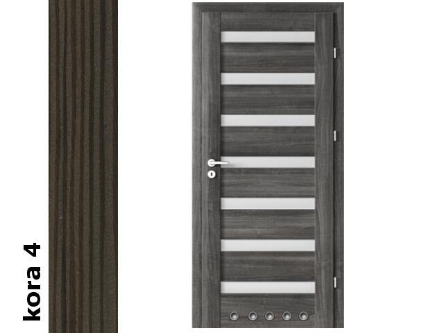 Drzwi okleinowane Cortex kora 4 D7 80 lewe blokada wc tuleje zawiasy srebrne Verte