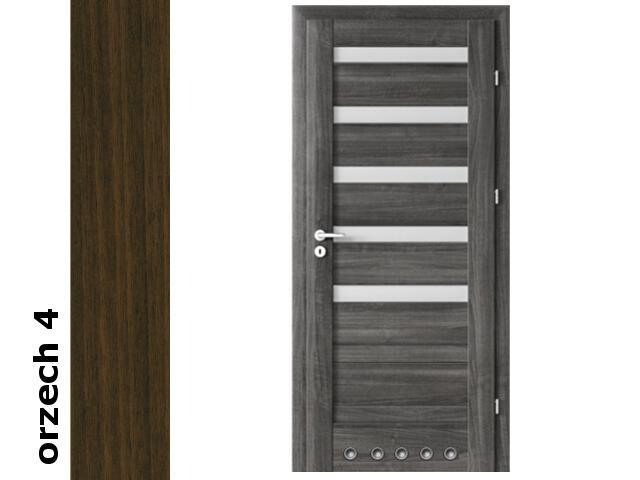 Drzwi okleinowane Dur orzech 4 D5 70 lewe blokada wc tuleje zawiasy srebrne Verte