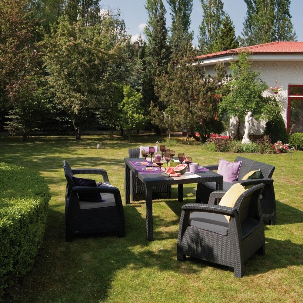 Zestaw mebli ogrodowych Corfu fiesta set 17198008  223216 Curver