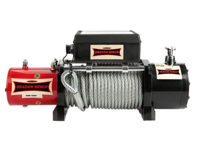 Wyciągarka Maverick DWM 10000 z liną stalową 24V Dragon Winch