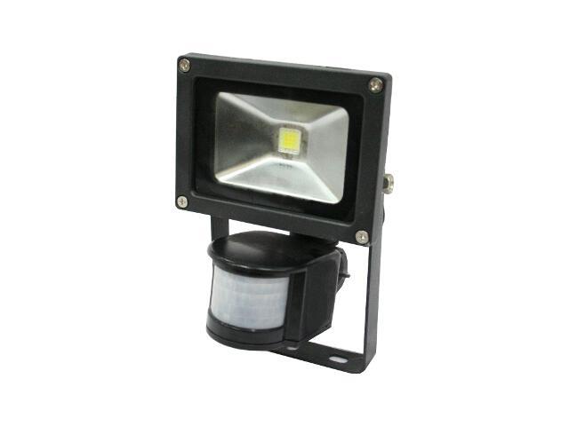 Naświetlacz LED 10W czarny z sensorem OS120168 Skan