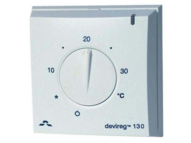 Termoregulator termostat DEVIREG 130 (+5 do +35°C) natynkowy Devi