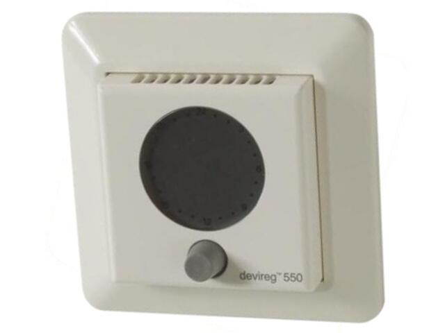 Termoregulator termostat DEVIREG 550 (+5 do +35°C) podtynkowy Devi