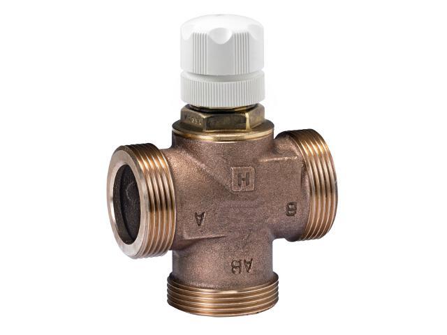 """Zawór mieszająco-dzielący ze śrubunkami 1"""" V135-1C Honeywell"""